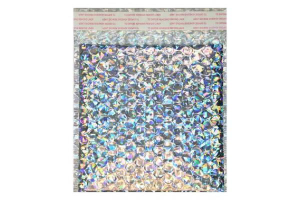 Bublinková obálka holografická strieborná