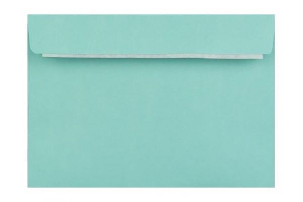 Farebná obálka s odtrhávacím pásikom (samolepiaca) tyrkysová