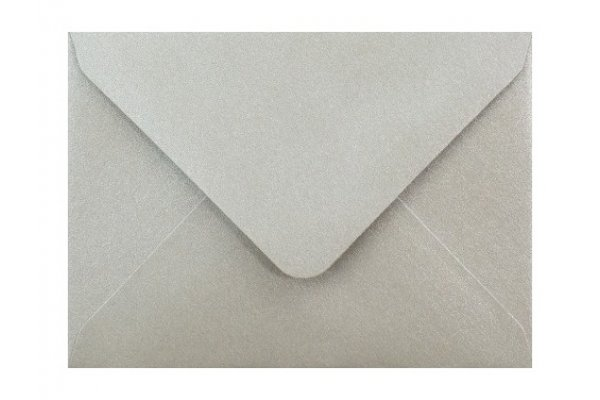 Metalická (perleťová) obálka strieborná