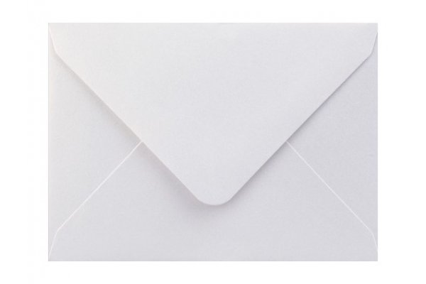 Metalická (perleťová) obálka biela