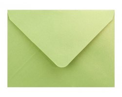 Metalická (perleťová) obálka zelenožltá