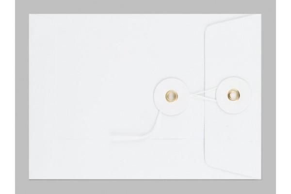 Obálka so šnúrkou kapacitná biela